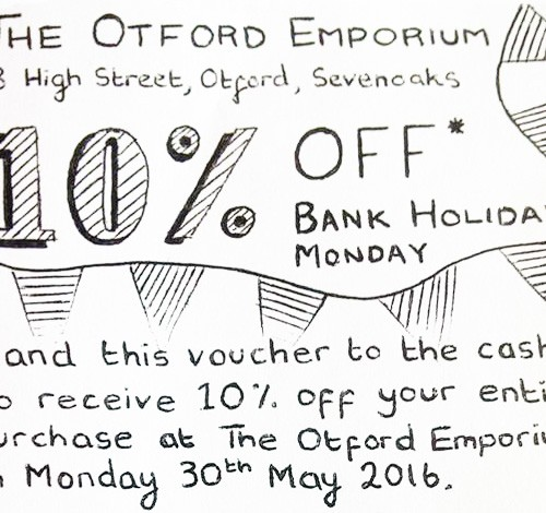 10% Off Voucher 30th May 2016