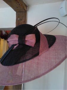 This beautiful large double brimmed picture hat  Was £395 now £150.