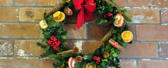 Christmas Wreath Making and Table / Mantle Decoration Workshop evening Thursday 05th December 2019