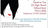 Recommend a Friend and get £££s off treatments – Hair and Beauty in Otford, Kent