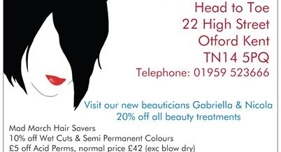 Recommend a Friend and get s off treatments &#8211; Hair and Beauty in Otford, Kent