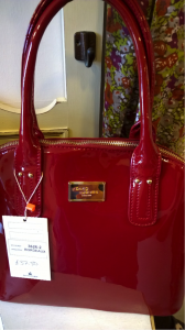 David Jones bag in vibrant red