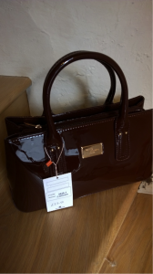 David Jones bag in a red wine colour