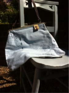 This beautiful blue bag with detailing is now on sale. WAS £47, NOW £17.