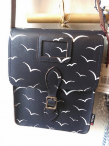 This black over the shoulder bag with white bird detailing is now on SALE! WAS £59.90, NOW £30.00
