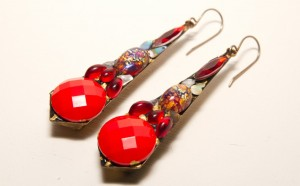Vintage jewelled earrings by Annie Sherburne