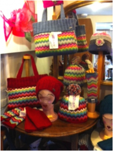 Gorgeous bright infusions of colour all in a bag, hat and gloves!
