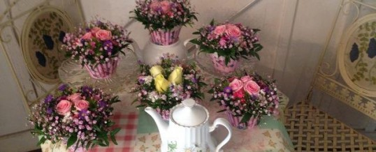 Denise Thompson Workshop Tea Party flowers,On Wednesday 20th May at 7.00pm, Otford Memorial Hall,Otford,Kent