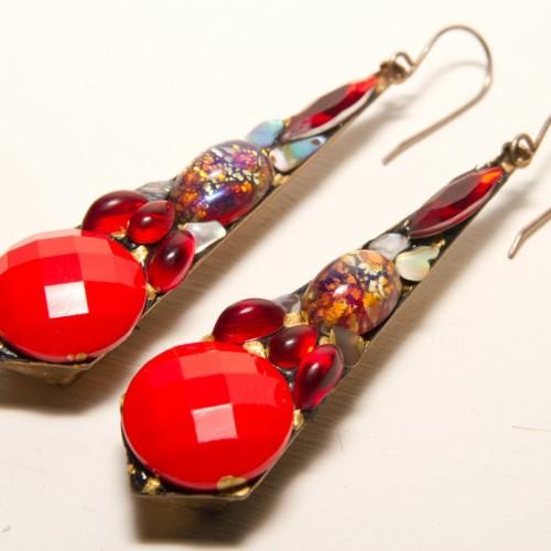Vintage jewelled earrings by Annie Sherburne